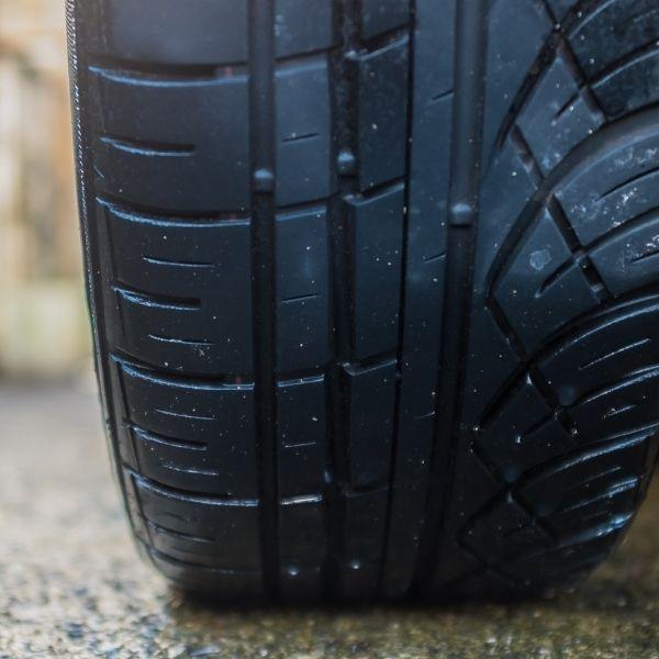 tyre on wet road