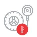 Tyre pressure temperature check