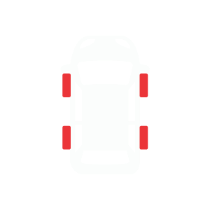 front & rear alignment icon
