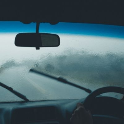 foggy windscreen