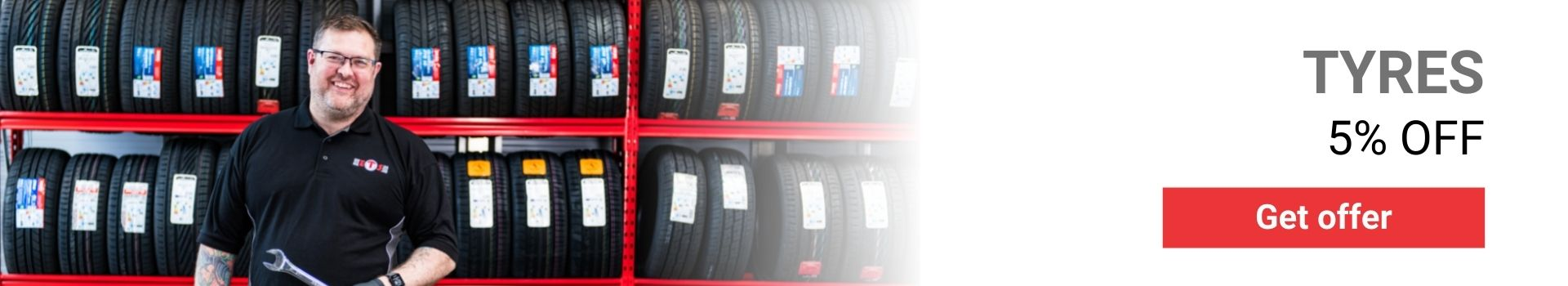 5% OFF TYRES BANNER