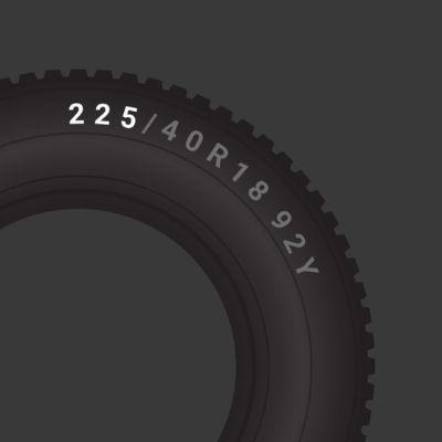 225mm tyre width