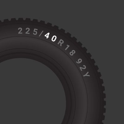 Tyre profile of 40