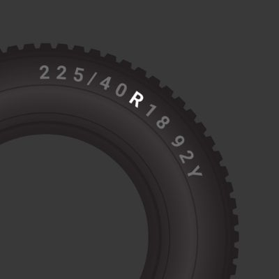 Tyre radial construction