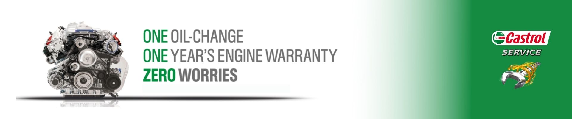 Castrol engine warranty banner