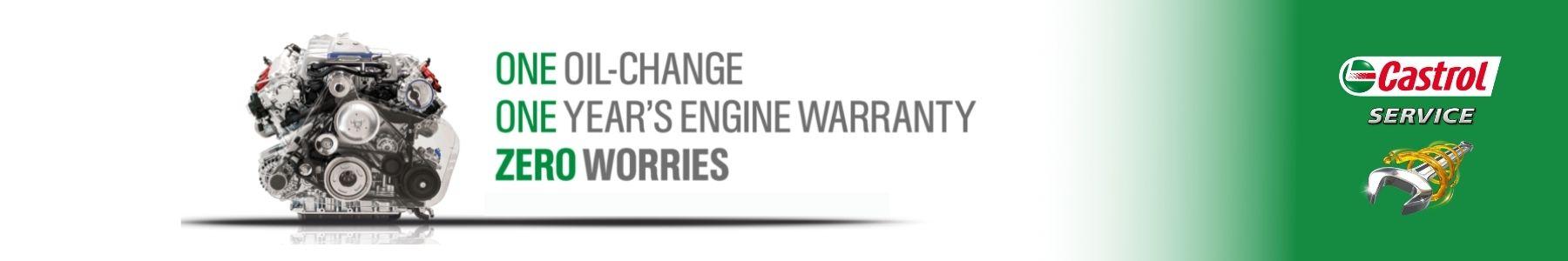 Castrol engine banner