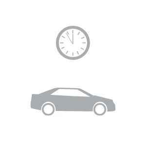 clock above car