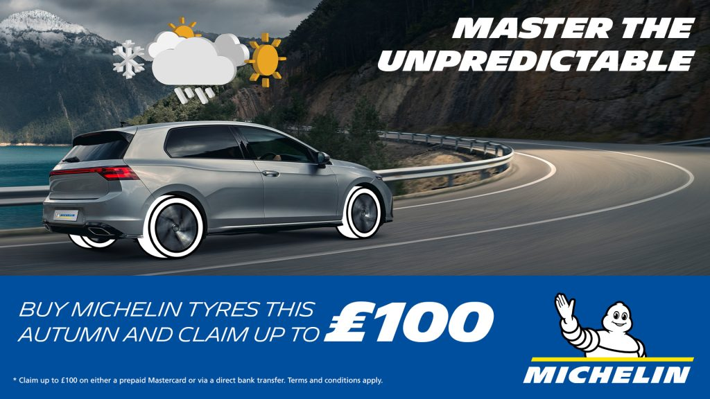 Claim up to £100 back with Michelin tyres