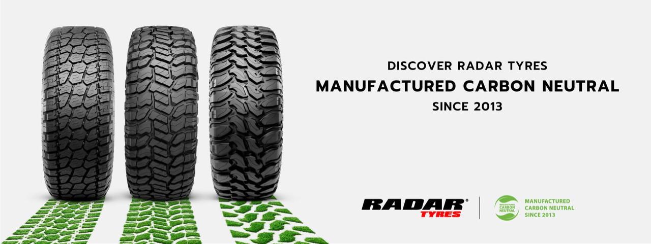 Radar carbon neutral tyre banner