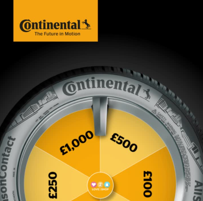 Spin & win with Continental tyres